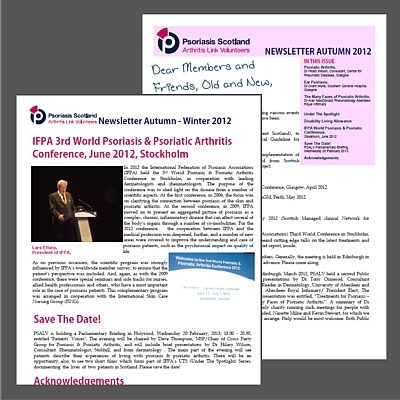 Psoriasis Scotland Autumn Newsletter 2012