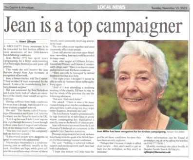 Jess Barrow Award for Campaigning