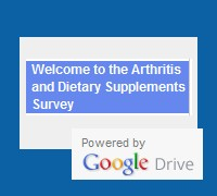 Arthritis and Dietary Supplements Survey