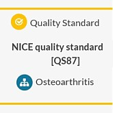 NICE publication of Osteoarthritis quality standards