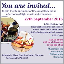 Portsmouth Hospitals Light Music Event, Sept 2015