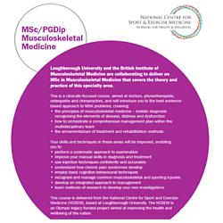 MSc/PGDip in Musculoskeletal Medicine