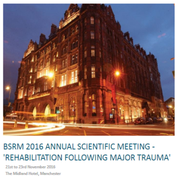 BSRM Annual Scientific Meeting, Manchester, 21-23 November 2016