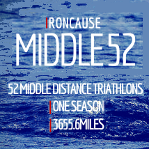 Ironcause - 52 Middle Distance Triathlons