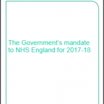 The NHS Mandate 2017-18