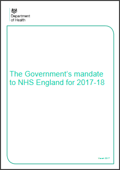 The NHS Mandate 2017-18