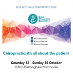 British Chiropractic Association Autumn Conference 2018